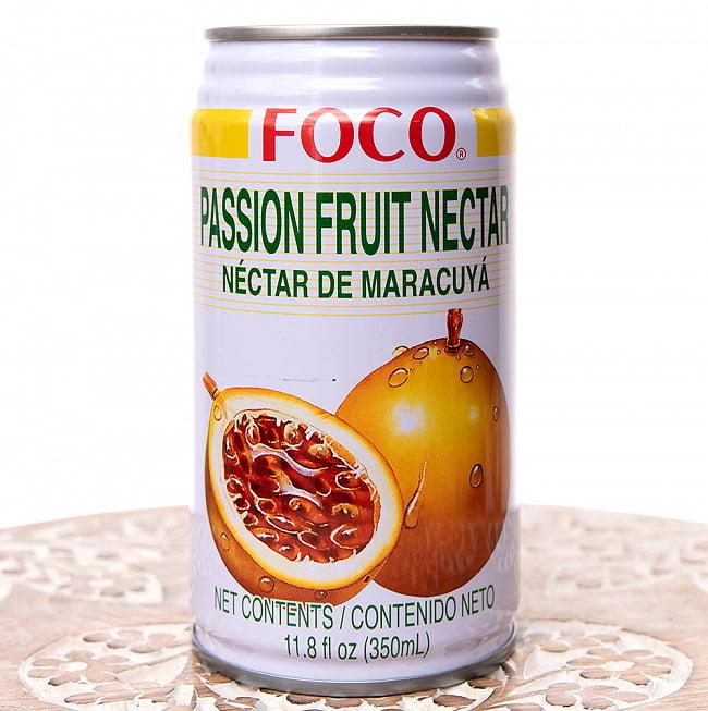 FOCO パッションフルーツジュース 350ml缶の写真