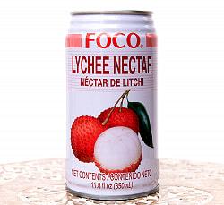 FOCO ライチジュース 350ml缶