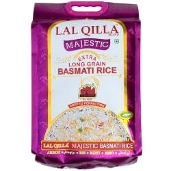 世界で一番長いお米 バスマティライス 高級品 5kg - Basmati Rice  【LAL QILLA Majestic】
