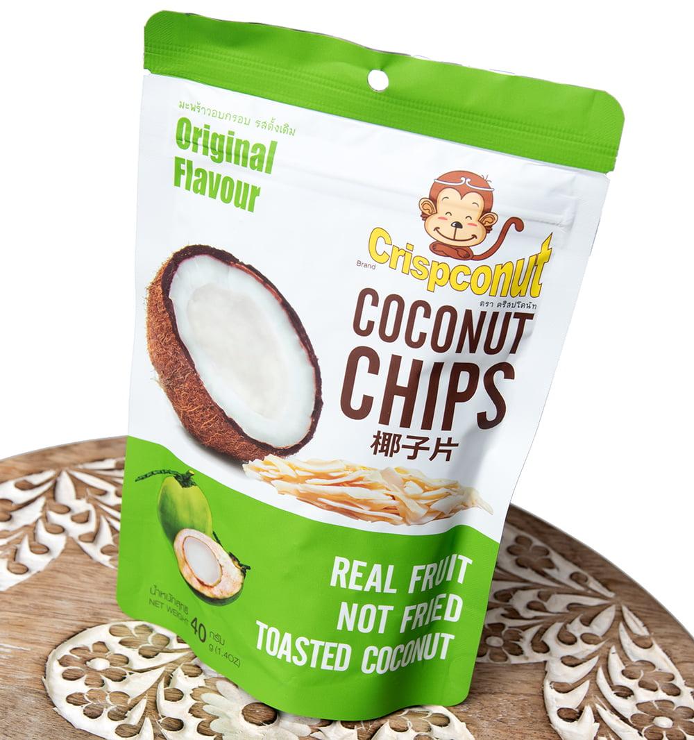ココナッツチップス  - COCONUTS CHIPS 40g 3 - 斜めから撮影しました