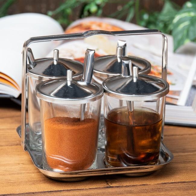 タイの薬味入れ クアングプゥング - ガラスタイプ 1