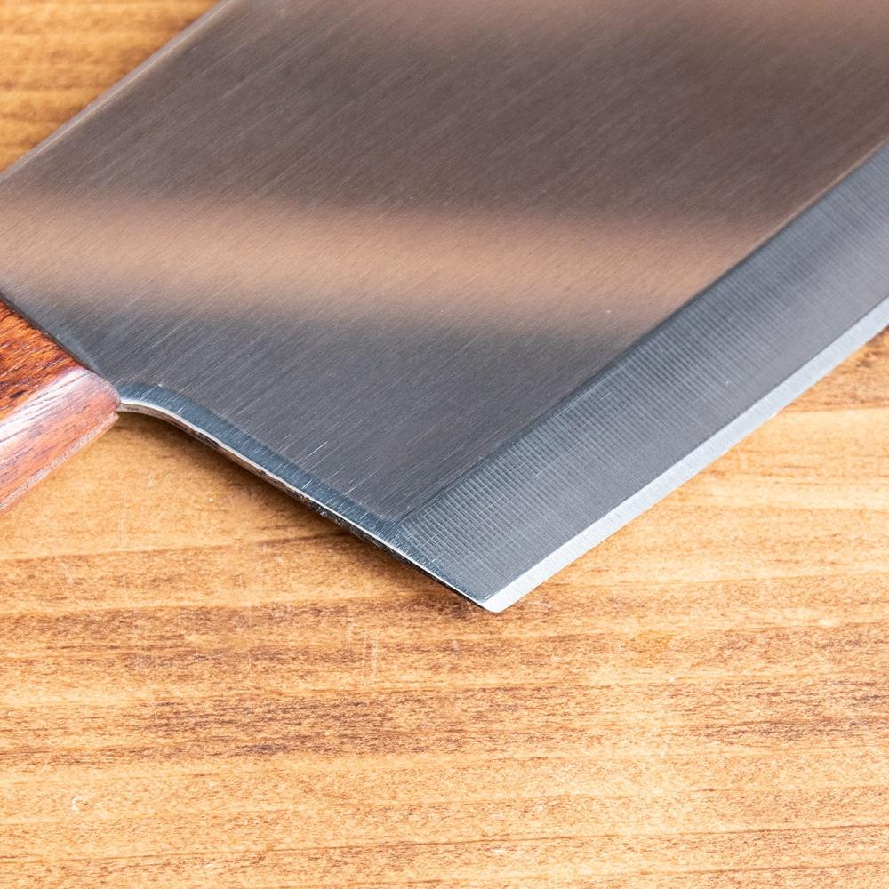 タイのチョッパーナイフ【KIWIブランド】 - Sサイズ 6 - 角張っているので細かい作業もやりやすそうです。