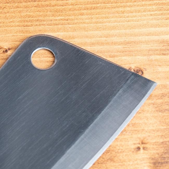 タイのチョッパーナイフ【KIWIブランド】 - Sサイズ 7 - 上部にはフックにかけられる穴がついています。