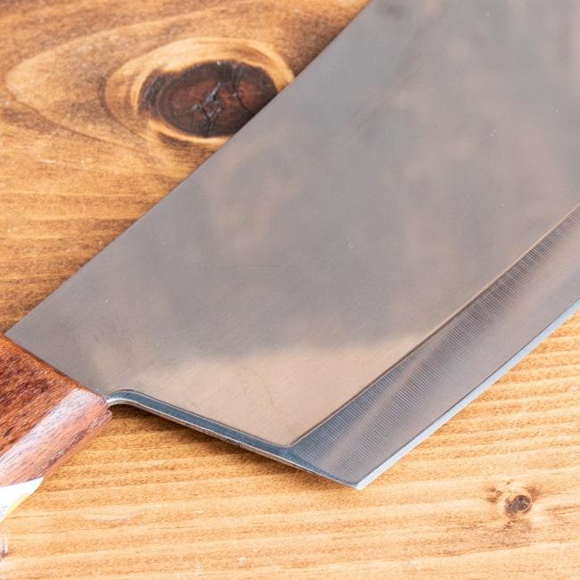 タイのチョッパーナイフ【KIWIブランド】 - Mサイズ 6 - 角張っているので細かい作業もやりやすそうです。
