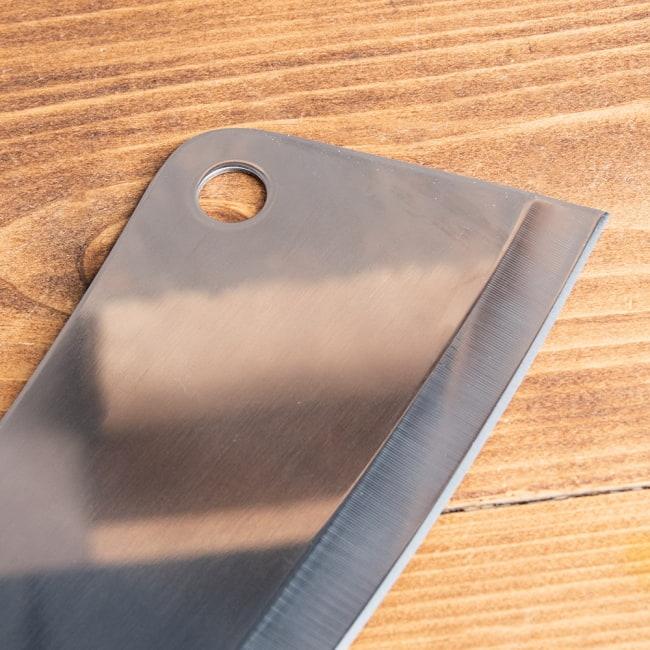 タイのチョッパーナイフ【KIWIブランド】 - Mサイズ 7 - 上部にはフックにかけられる穴がついています。