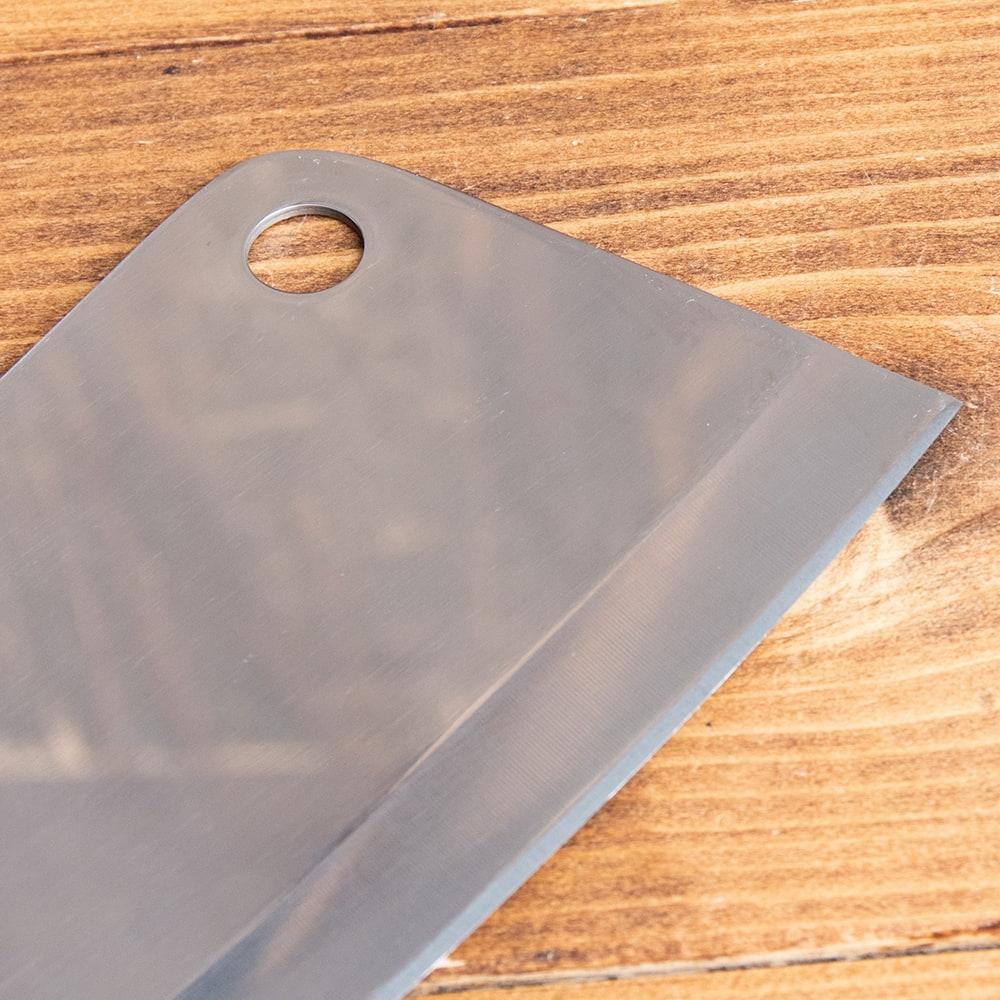 タイのチョッパーナイフ【KIWIブランド】 - Lサイズ 7 - 上部にはフックにかけられる穴がついています。