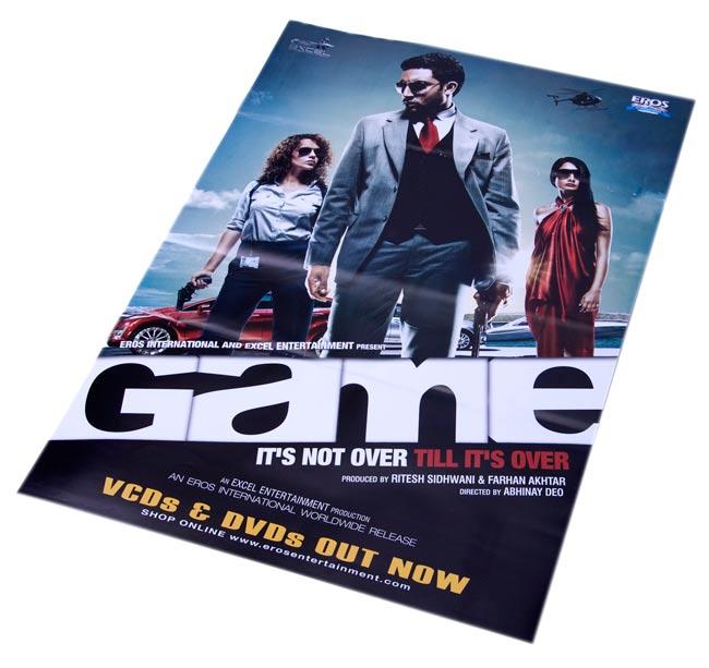インド映画販促ポスター[GAME]の写真