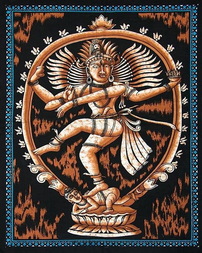 【ランダムな無料プレゼント】インドの神様タペストリの写真