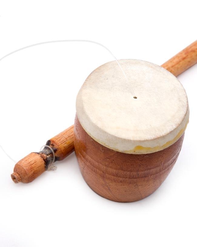 バリのゲロゲロ笛【木目】 2 - 上から写してみました