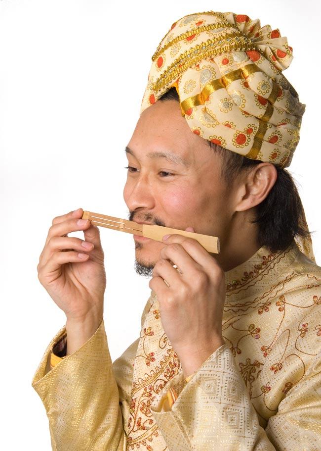 インドネシアの竹の口琴 - ゲンゴン 2 - インドパパが試しに演奏してみました