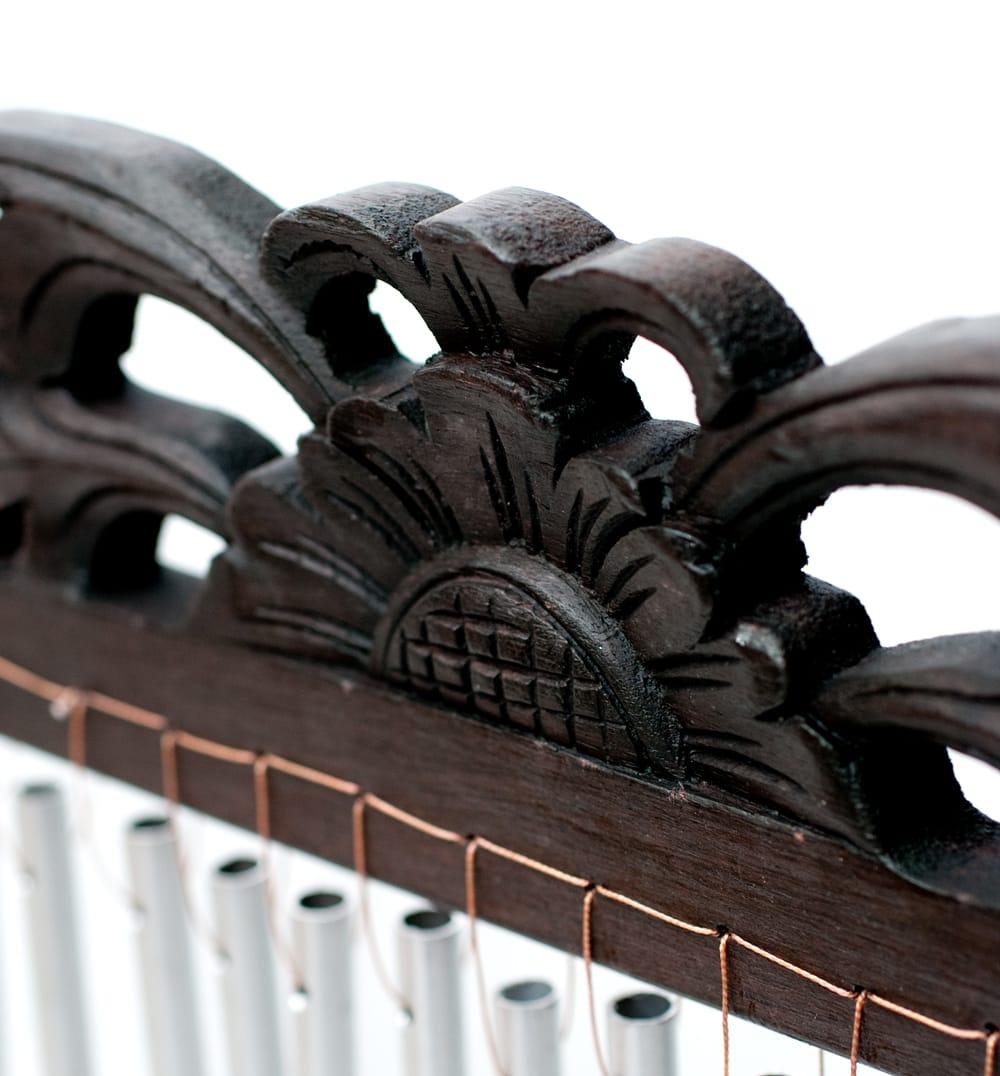 〔黒系〕バリ島のハンガーチャイム【26cm×40cm】 3 - 拡大写真です