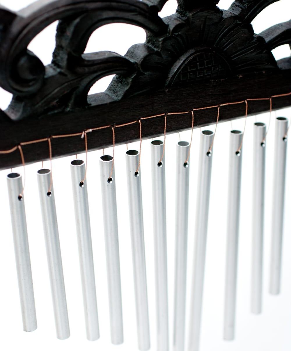〔黒系〕バリ島のハンガーチャイム【26cm×40cm】 4 - 揺れると澄んだ綺麗な音色がします。