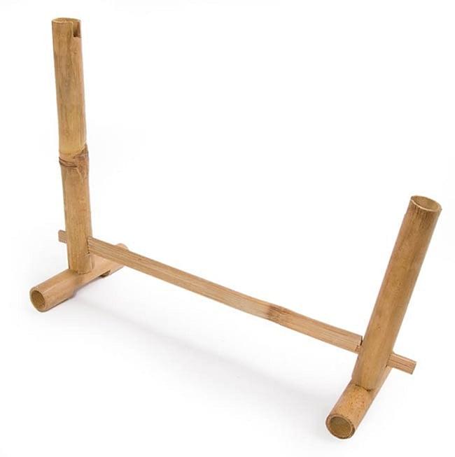 アンクルン(大) 8 - 分解された状態でお送りしますので、まずはこのように柱を立ててください。