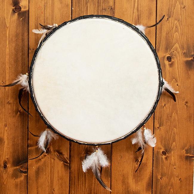 フェザーつきネイティブドラム - rebana 外径41cm程度の写真