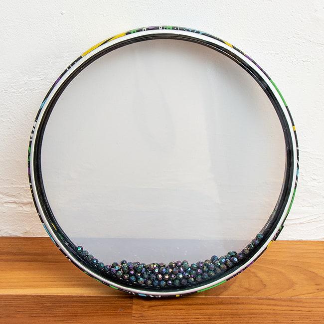 波打ち際の音がする打楽器 マリンドラム PVC製 直径31cm 4 - 反対側の打面を見てみました。