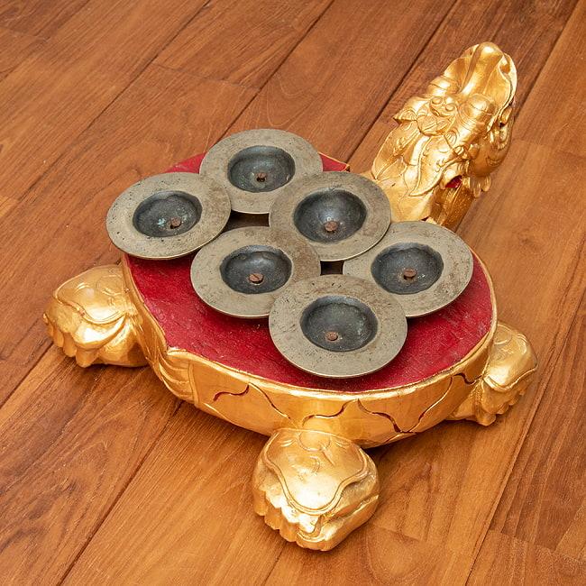 チェンチェン Ceng Ceng バリ・ガムランの本格品 4 - 6つのシンバルが背中についています。