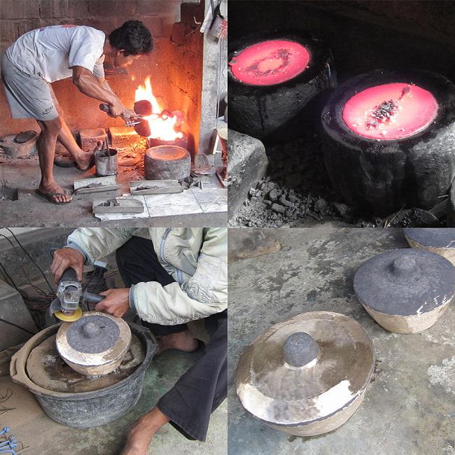 トロンポン Trompong バリ・ガムランの本格品 2 - 特殊な形状のゴングのため、大変な根気のいる製造工程です。