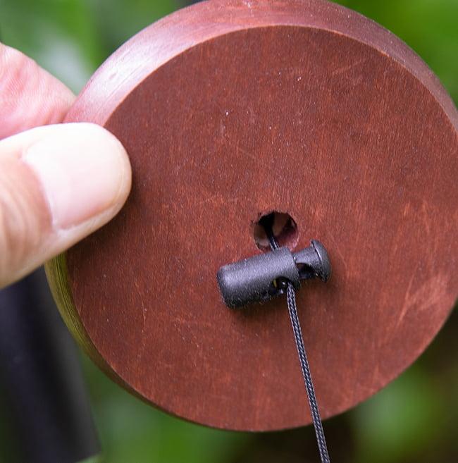 倍音が美しいヒーリング風鈴 - Nature's Melody - 41cm[黒色][PG28BK] 4 - 鳴子の部分です