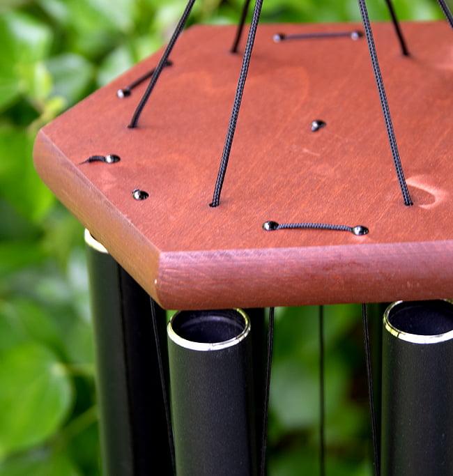 倍音が美しいヒーリング風鈴 - Nature's Melody - 41cm[黒色][PG28BK] 6 - 上部をアップにしました