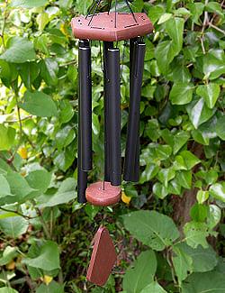 倍音が美しいヒーリング風鈴 - Nature's Melody - 41cm[黒色][PG28BK]の商品写真