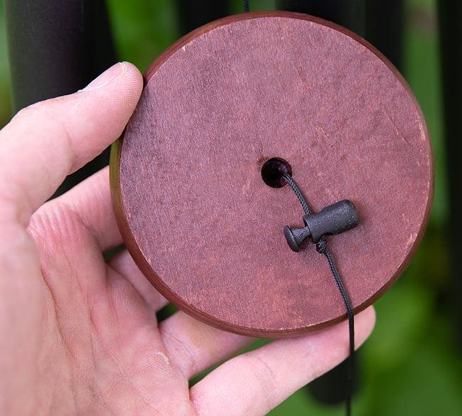 倍音が美しいヒーリング風鈴 - Nature's Melody - 51cm(黒色)【PG36BK】 7 - 鳴子の位置は調節できます