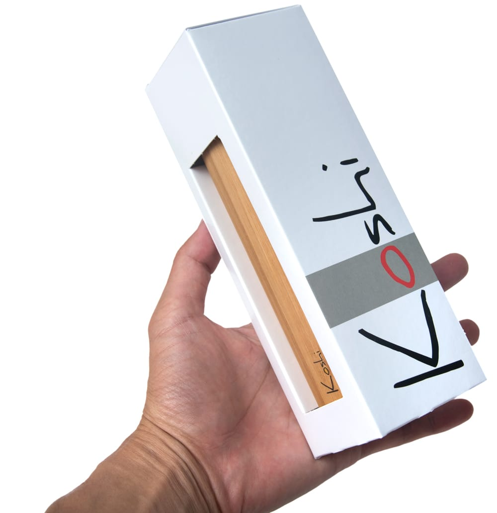 コシ・チャイム Koshi Chime (ヒーリング風鈴) - Aqua 水 3 - 白い美しい箱に入っています