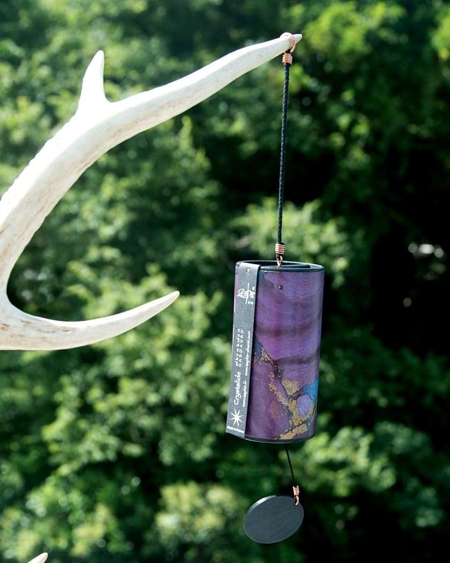 ザフィア・チャイム〔Zaphir Chime〕(ヒーリング風鈴) - クリスタロイド 5 - 屋外で撮影してみました。風とともに美しい音色がやってきます