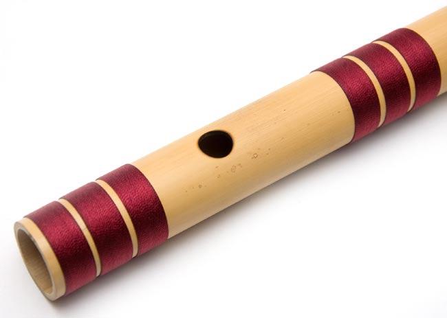 高品質コンサート用バンスリ(BASS D管) 3 - 上部、この穴に口を当てます
