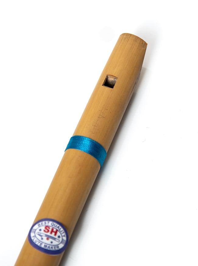 インドの縦笛(シルク巻き-高級品) 3 - 吹き口の写真です