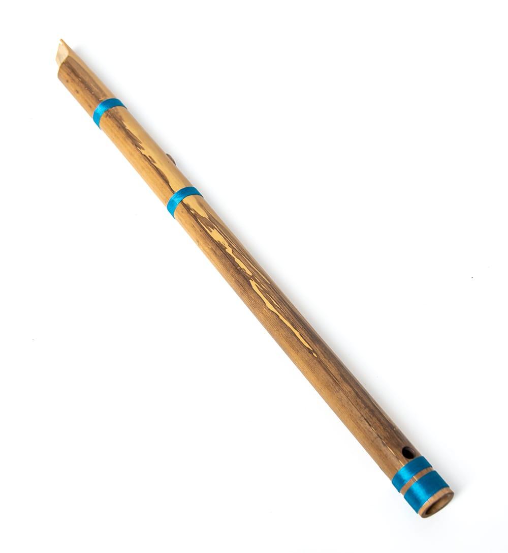 インドの縦笛(シルク巻き-高級品) 5 - 天然素材のためこのようにムラがあります。