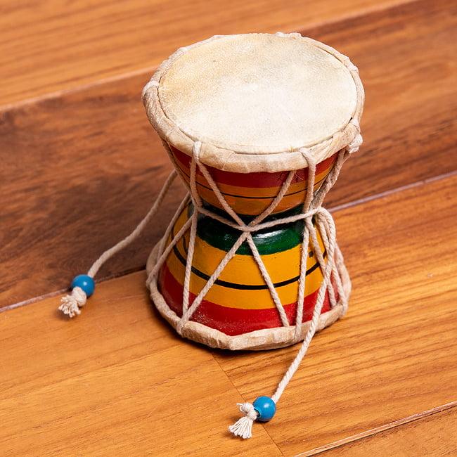 装飾用ダムルー 小 シヴァのでんでん太鼓の写真