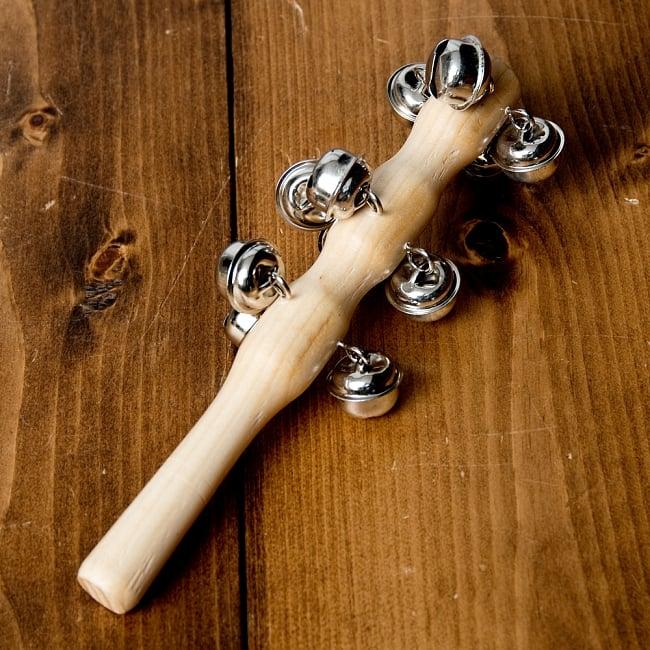 スレイベル  トナカイが引くそりの音色がする鈴 - 18.5cm 2 - 全体写真です。
