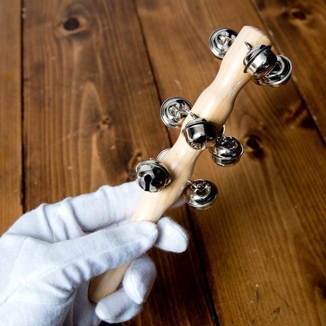 スレイベル  トナカイが引くそりの音色がする鈴 - 18.5cm 5 - このくらいのサイズ感になります