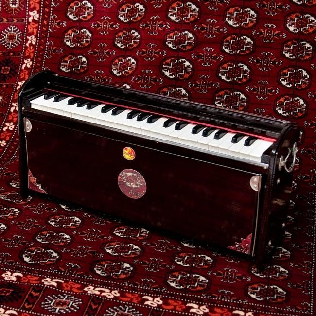 【Kartar Music House社製】携帯ハルモニウム 4 - 前面からの写真です