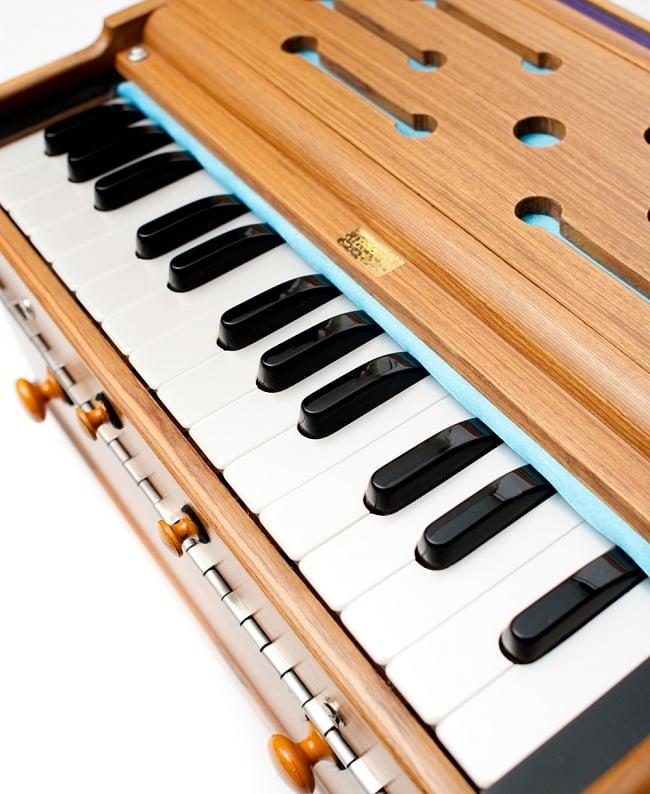 【PALOMA社製】ハルモニウム(27鍵 携帯向け超小型&品質良) 6 - 鍵盤の拡大写真です