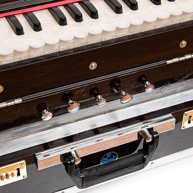 【Kartar Music House社製】ポップアップハルモニウム 3ドローンタイプ 6 - そこそこのインド品質ではあります。