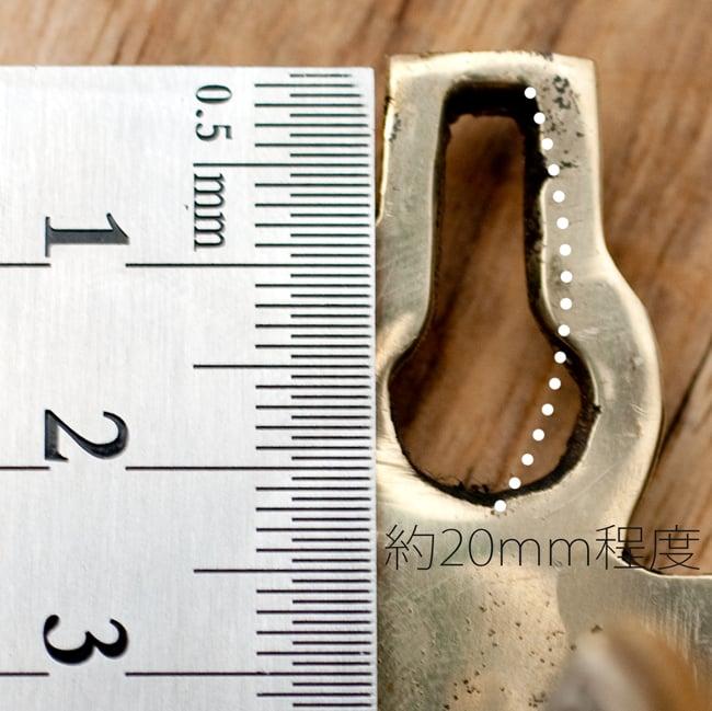 金剛鈴(ガンター)・ドアーベル 10 - 上部についている穴の高さは大体20mm程度です。