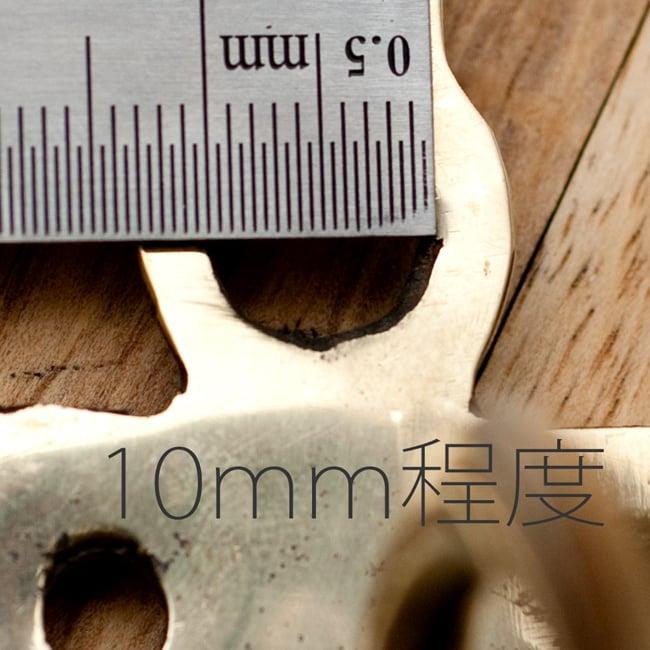 金剛鈴(ガンター)・ドアーベル 11 - 上部についている穴の直径は大体10mm程度です。