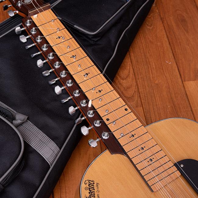 インドのスライド・ギター モハーンヴィーナ 3 - ネック下部分