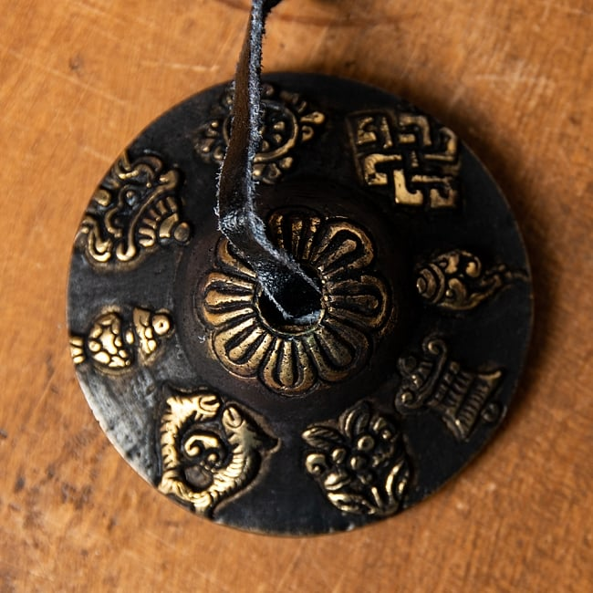 カラーディンシャ〔約5.8cm〕 - ブラック 6 - 吉祥柄の写真です。