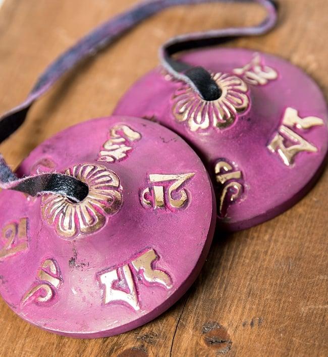 カラーディンシャ〔約5.8cm〕 - 紫の写真2 - 拡大写真です