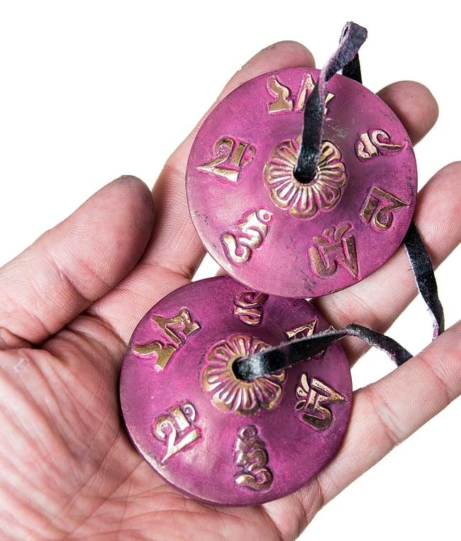 カラーディンシャ〔約5.8cm〕 - 紫の写真4 - 裏面の写真です