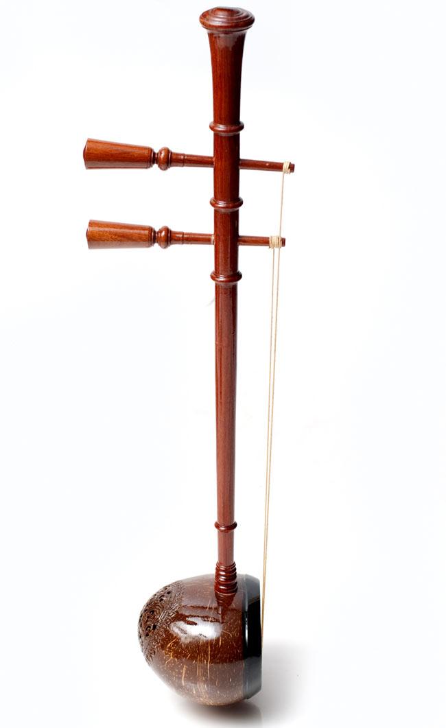 【ワケアリ特価】タイ民族楽器 - ソー・ウー [Saw u] 2 - 横から撮影しました