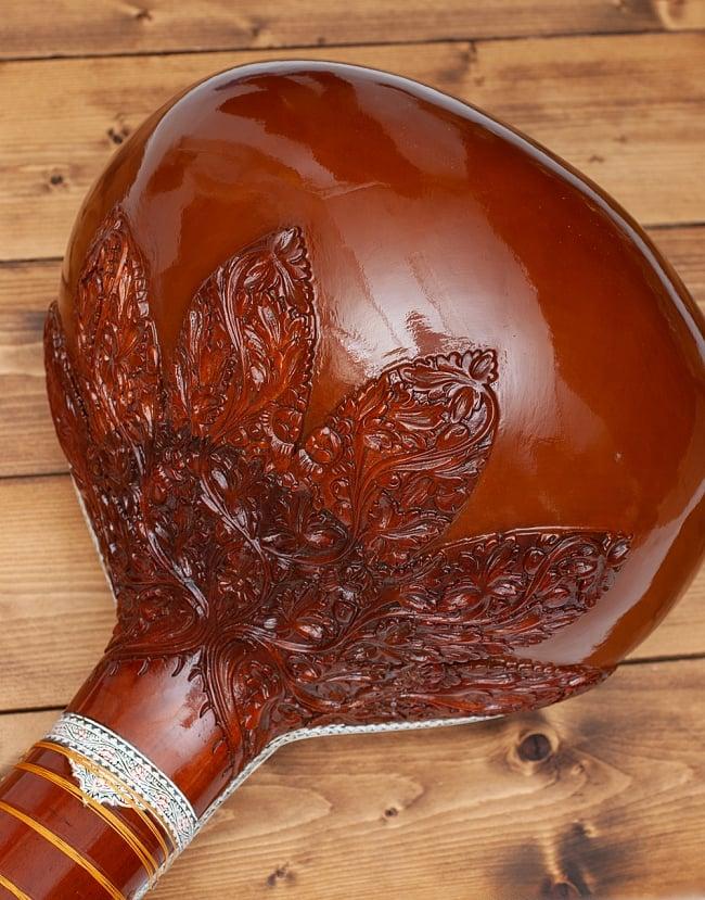 一流メーカー製シタールセット(ダブルトゥンバ)(Kanailal & Sons) 6 - トゥンバの写真です
