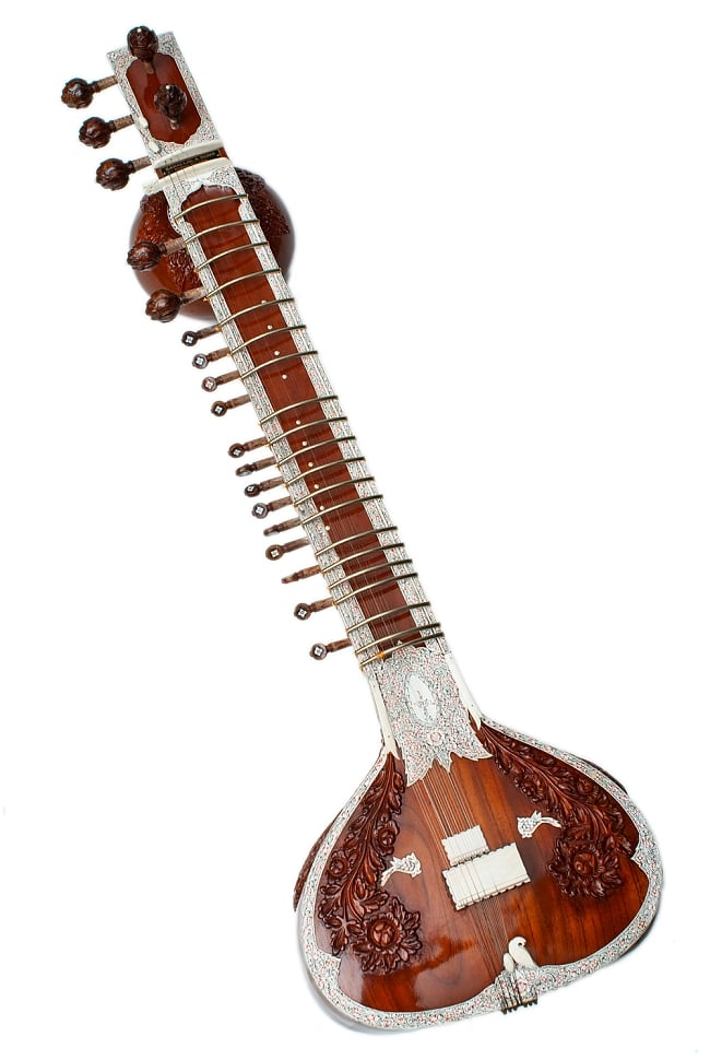 一流メーカー製シタールセット(ダブルトゥンバ)(Kanailal & Sons)の写真