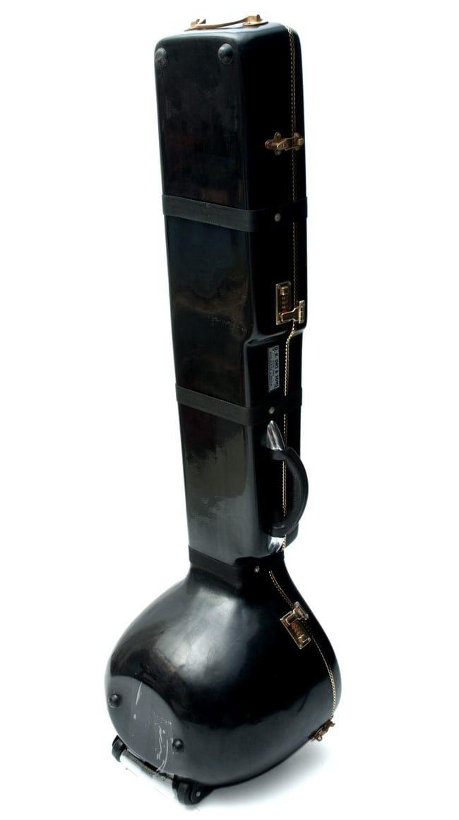 【ちょっとワケありPALOMA社製】高級シタールセット(グラスファイバーケース)ヴィラヤットカーンスタイル 11 - 安心のグラスファイバーケース付き!