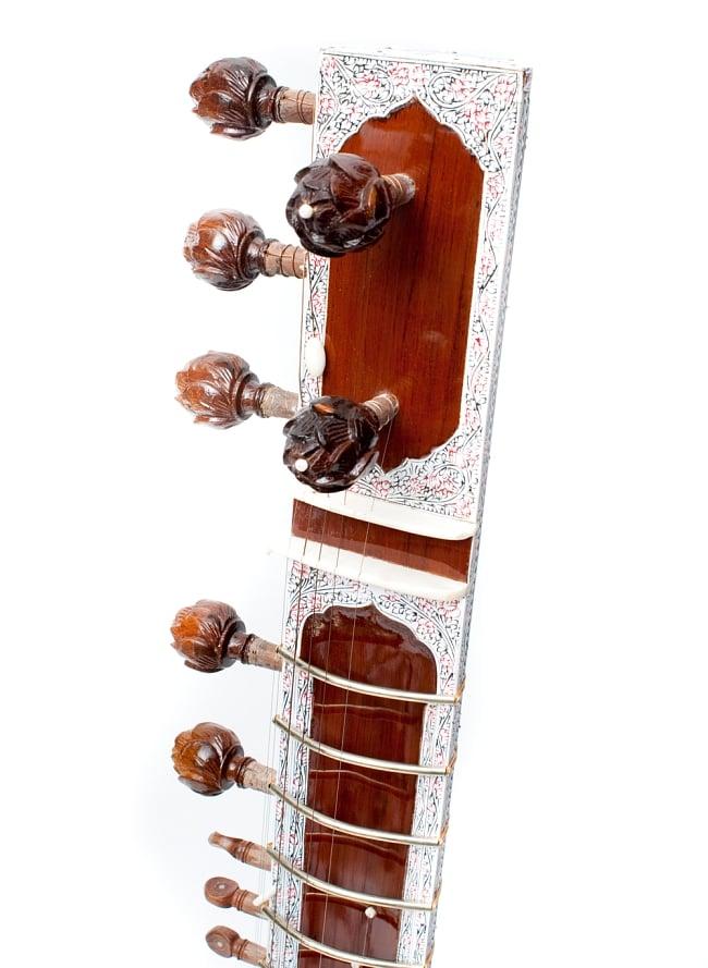 高級シタールセット(グラスファイバーケース) 3 - ヘッド部分の写真です