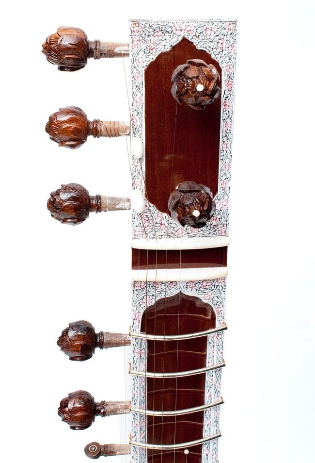 シタールセット(グラスファイバーケース) 3 - ヘッド部分の写真です