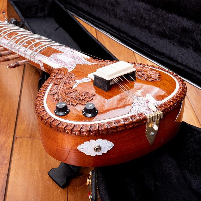【Kartar Music House社製】エレクトリックシタールセット(グラスファイバーケース) 6 - トゥンバ部分を見てみました。