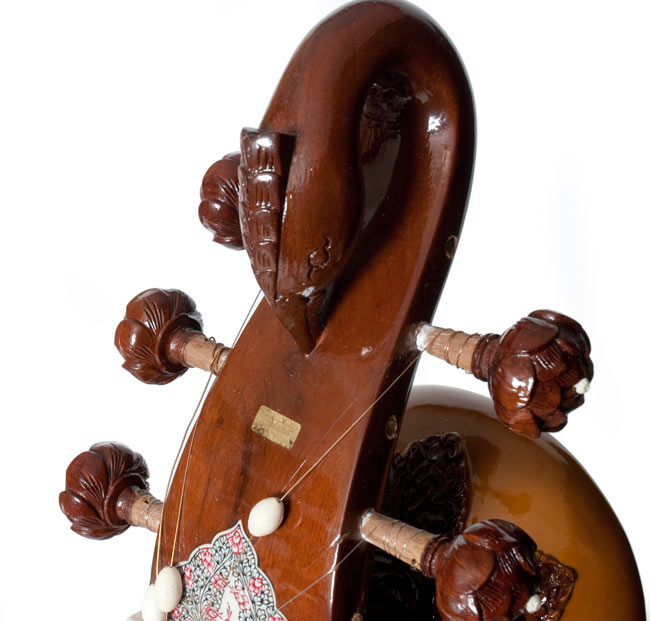 PALOMA製 スルバハール(Surbahar) 2 - 孔雀の頭の彫刻が入っています